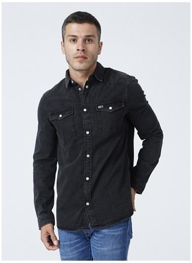 Tommy Jeans Jean Gömlek Siyah